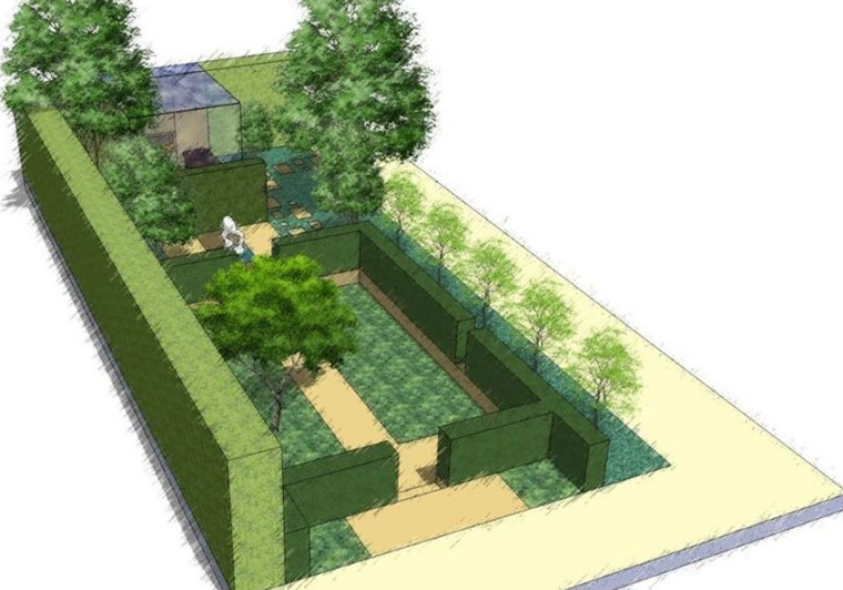 Philip johnson landscapeislapinski for Chelsea flower show garden designs
