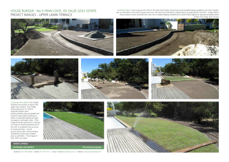 Upper Lawn Terrace installation