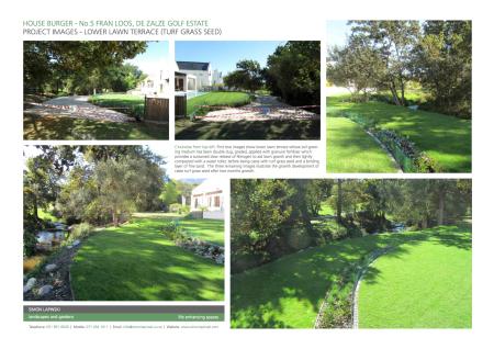 Turf Grass Seed Caste Lower Lawn Terrace Installation