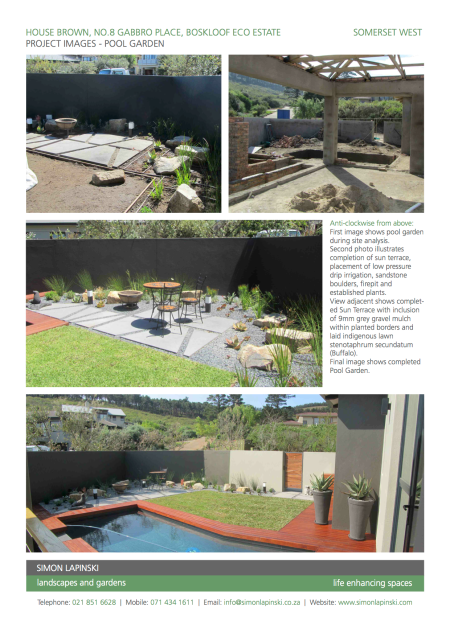 Pool Garden Project Images