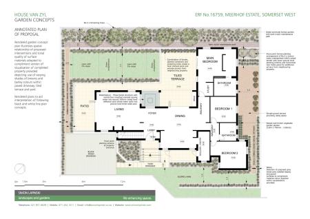 Rendered Garden Concept One/B
